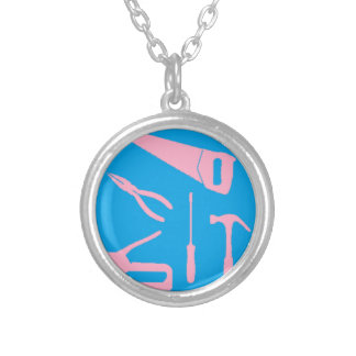 pink tools necklace