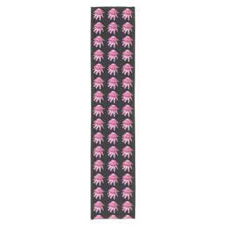 Pink Torch Ginger Table Runner on Black