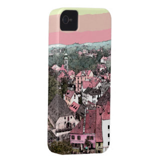 Pink Town iPhone 4 Cover
