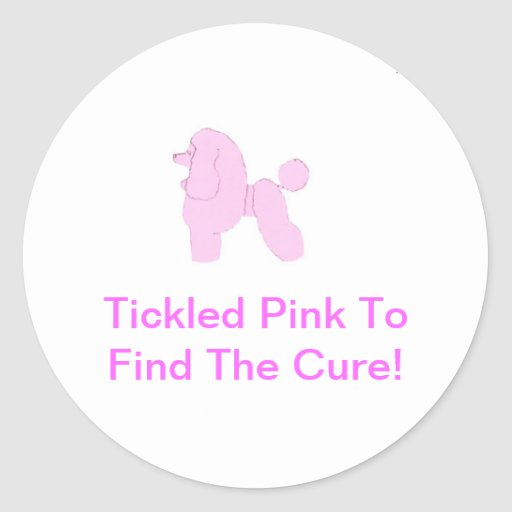 Pink Toy Poodle Sticker