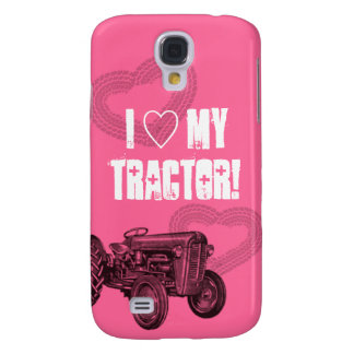 Pink Tractor Love Phone Case Galaxy S4 Cover