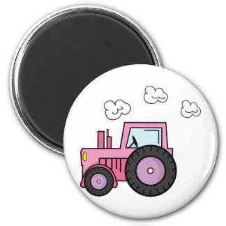 Pink Tractor Magnet