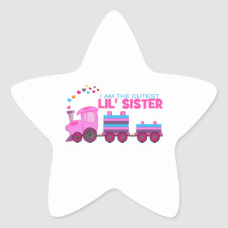 Pink Train - Lil' Sister Star Sticker