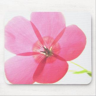 Pink Transparent Floral Mouse Pad