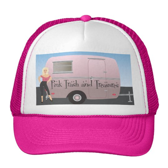 Pink Trash and Treasures logo Cap