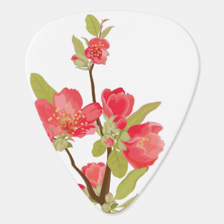 Pink Tree Blossom Guitar Pick Guitar Pick