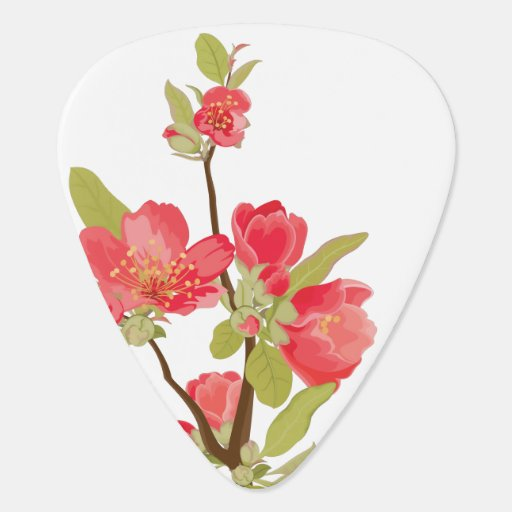Pink Tree Blossom Guitar Pick Guitar Pick
