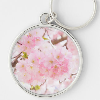 Pink Tree Cherry Blossom Key Ring