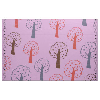 Pink Trees Custom Combed Cotton (56-width) Fabric