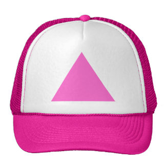 Pink Triangle Mesh Hat