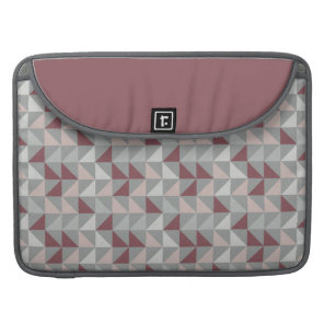 Pink triangle geometric pattern sleeve for MacBook pro