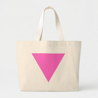 Pink Triangle Large Tote Bag