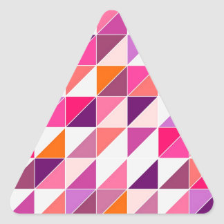 Pink triangle mosaic wrapping surface design triangle sticker