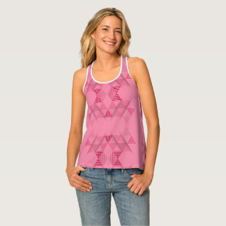 Pink Triangle Pattern Tank Top