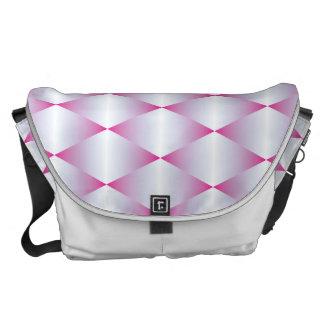Pink Triangles Messenger Bag