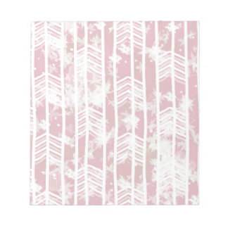 Pink Tribal Leaf Aztec Pattern Notepad