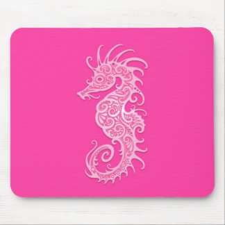 Pink Tribal Seahorse Mouse Mat