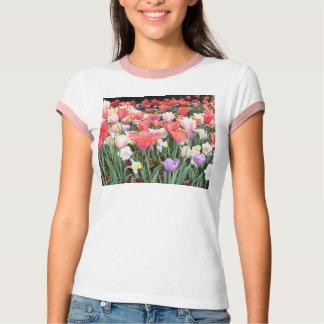 Pink Trimmed Floral Tshirt
