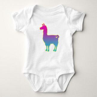 Pink Tropical Llama Baby Bodysuit