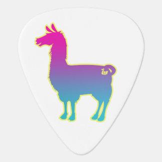 Pink Tropical Llama Guitar Pick