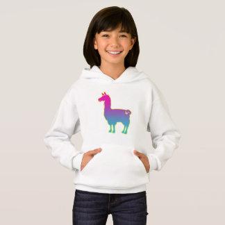 Pink Tropical Llama Hoodie