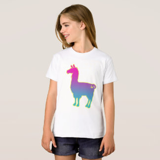 Pink Tropical Llama Kids T-Shirt
