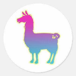 Pink Tropical Llama Stickers