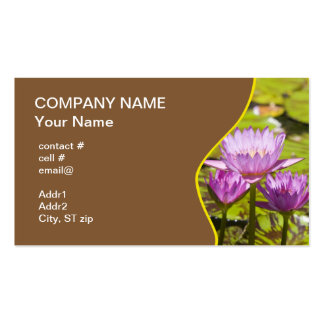 pink tropical water lilies business card templates
