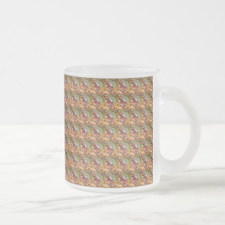 Pink Trumpet Flower Frosted Mug