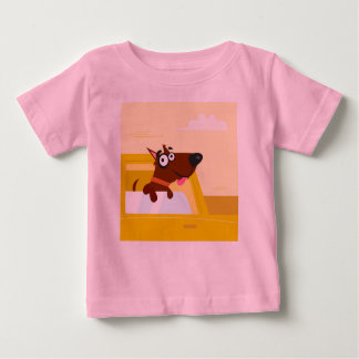 Pink tshirt with brown Dog