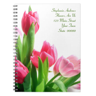 Pink Tulip Bouquet Notebook