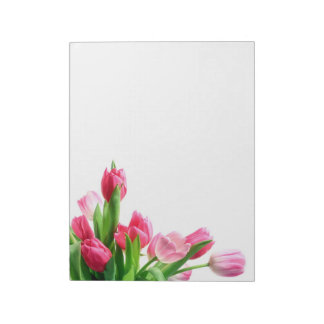 Pink Tulip Bouquet Notepad