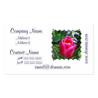 Pink Tulip Business Cards