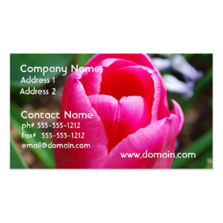 Pink Tulip Business Card