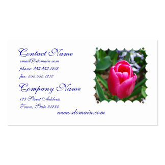Pink Tulip Business Card Template