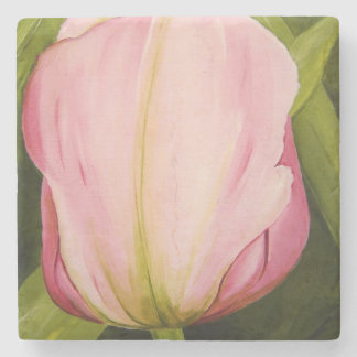 Pink Tulip Coaster by Michelle Meyer Stone Coaster