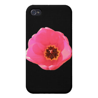 Pink Tulip  Cover For iPhone 4