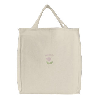 Pink Tulip Embroidered Carryall Bags