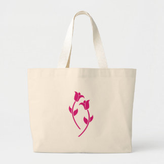 Pink Tulip Graphic Bags