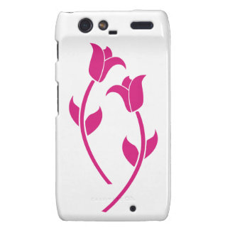 Pink Tulip Graphic Motorola Droid RAZR Cover