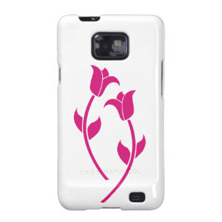 Pink Tulip Graphic Samsung Galaxy SII Cover