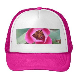 Pink Tulip Mesh Hats