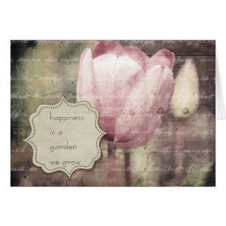 Pink Tulip Inspiration Greeting Card
