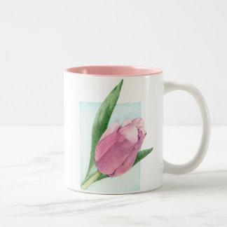 Pink Tulip Mug