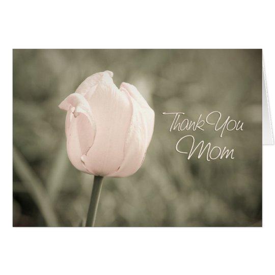 Pink Tulip Mum Wedding Day Thank You Card