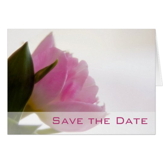 Pink Tulip • Save the Date Card