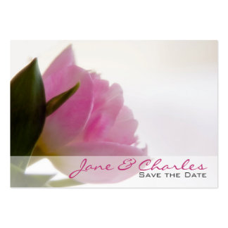 Pink Tulip • Save the Date Mini Card Business Card Templates