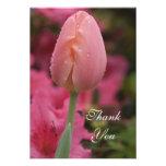 Pink Tulip Thank You Notes - Flat Custom Invitation