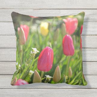 pink tulip throwpillow