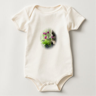 Pink Tulip with Cat Baby Bodysuit